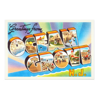 Ocean Grove New Jersey NJ Vintage Travel Postcard- Photograph