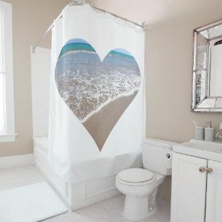 Ocean Heart II Shower Curtain