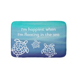 Ocean Honu Sea Turtles Bath Mat