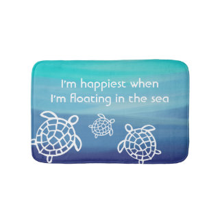 Ocean Honu Sea Turtles Bath Mat