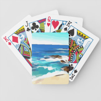 Ocean in Carmel Bicycle Playing Cards