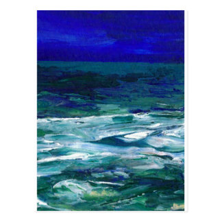 Ocean in the Moonlight Ocean Art Seascape Gifts Postcard