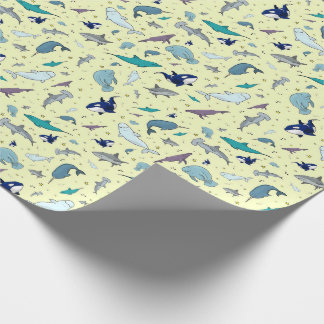 Ocean in Yellow Wrapping Paper