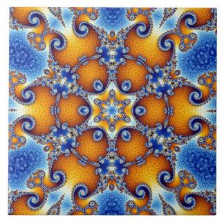 Ocean Life Mandala Ceramic Tile