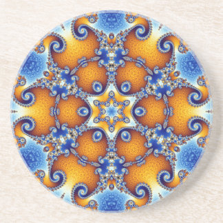 Ocean Life Mandala Coaster