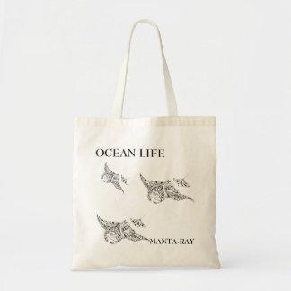 ocean life manta-rays tote bag