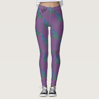 OCEAN LIFE sting ray Leggings