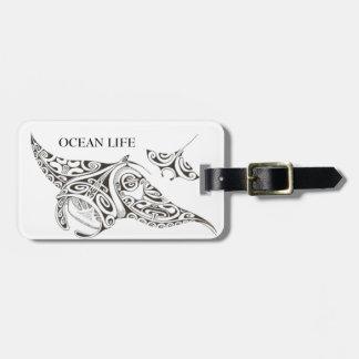 OCEAN LIFE twin rays Luggage Tag
