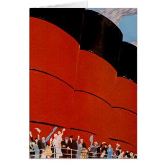Ocean Liner Bon Voyage Greeting Card