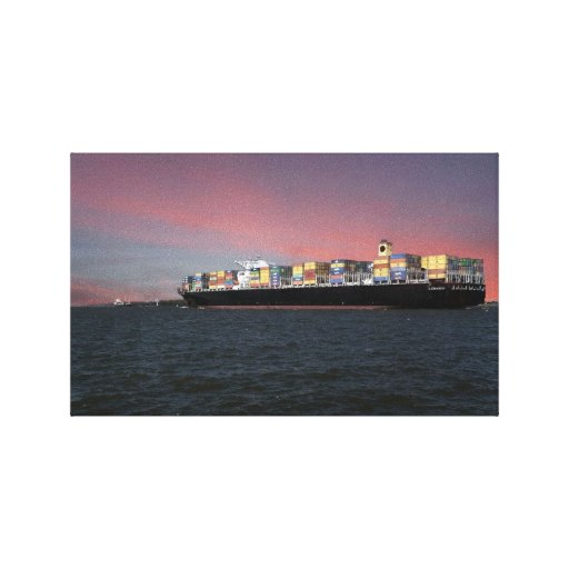 Ocean Liner Stretched Canvas Prints