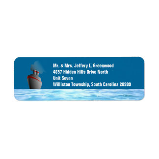 Ocean Liner Return Address Label