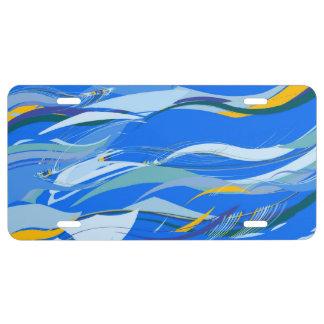 Ocean License Plate