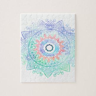 Ocean-madala. aqua blue pink jigsaw puzzle