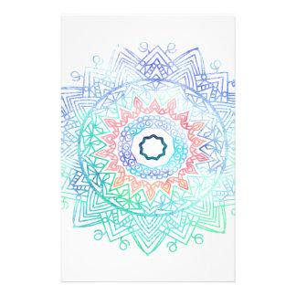 Ocean-madala. aqua blue pink stationery paper