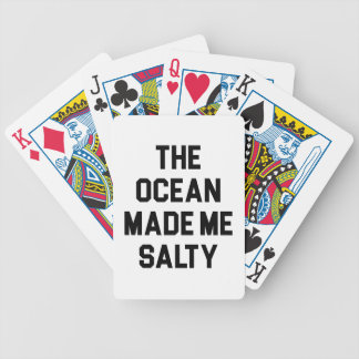 Ocean Made Me Salty Bicycle Playing Cards