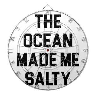 Ocean Made Me Salty Dartboard