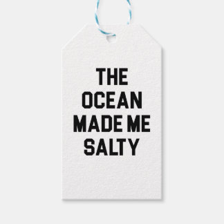 Ocean Made Me Salty Gift Tags