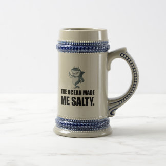 Ocean Made Me Salty Shark Beer Stein