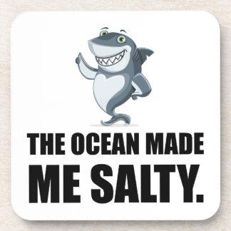 Ocean Made Me Salty Shark Coaster