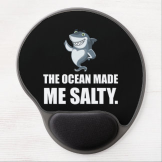 Ocean Made Me Salty Shark Gel Mouse Pad