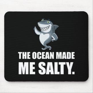 Ocean Made Me Salty Shark Mouse Pad