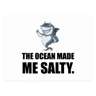 Ocean Made Me Salty Shark Postcard