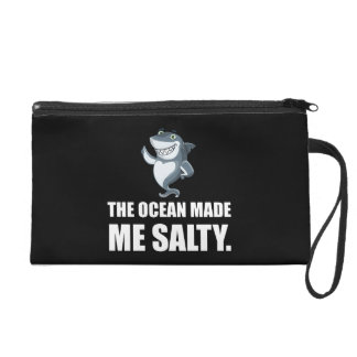 Ocean Made Me Salty Shark Wristlet