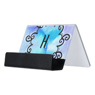 Ocean Medallion Desk Business Card Holder