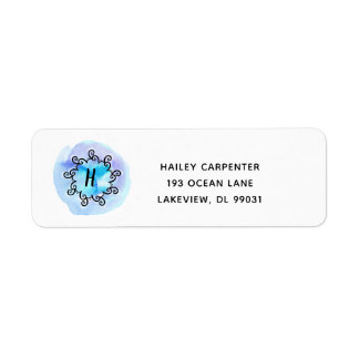 Ocean Medallion Return Address Label