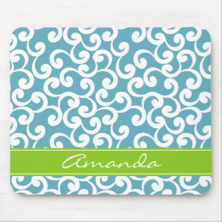 Ocean Monogrammed Elements Print Mouse Pad