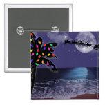 Ocean Moonlight Christmas Holiday 15 Cm Square Badge