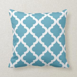 Ocean Moroccan Quatrefoil Print Cushion