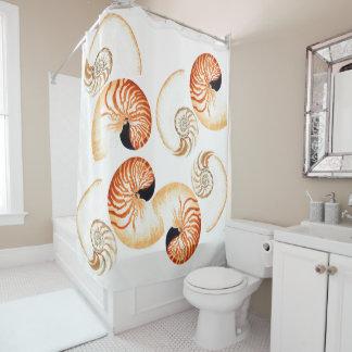 Ocean Nautilus Seashells Shells Shower Curtain