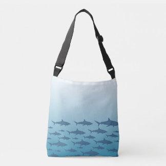 Ocean of Sharks Cross Body Bag