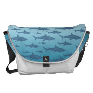 Ocean of Sharks Rickshaw Messenger Bag