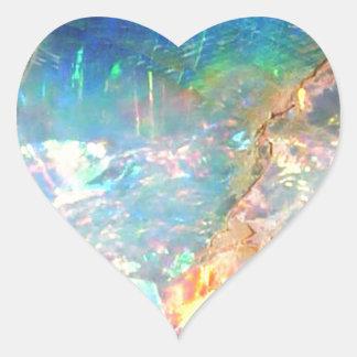 Ocean Opal Heart Sticker