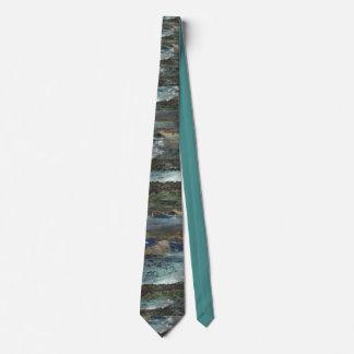 Ocean Painting Print Tie