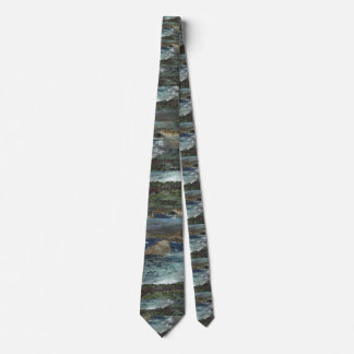 Ocean Painting Print Tie Too