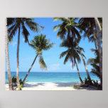 Ocean Palm Trees Print
