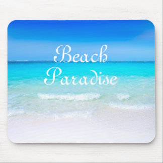 Ocean Paradise Blue Skies And Sandy Beach Mouse Pad