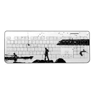 Ocean Pelican Kayak Fisherman Wireless Keyboard