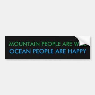 Ocean People Bumper Sticker - Black