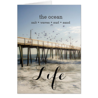 Ocean Pier Greeting Card
