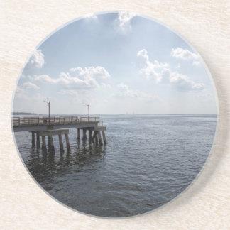 Ocean Pier Over Atlantic Ocean Coaster