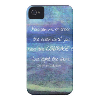 OCEAN QUOTE inspirational courage Case-Mate iPhone 4 Case