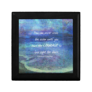 OCEAN QUOTE inspirational courage Gift Box