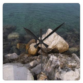 Ocean Rocks in Jamaica Clock