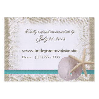 Ocean Romance Small Insert Card Large Business Cards (Pack Of 100)