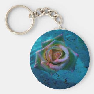 Ocean rose key ring