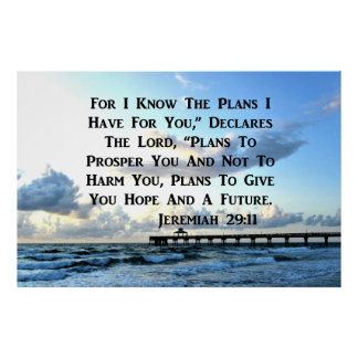 OCEAN SCENE JEREMIAH 29:10 PHOTO DESIGN POSTER